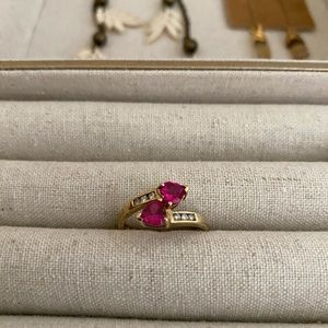 Jewelry - 10k heart shaped ruby ring, size 6.25